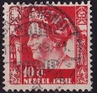 Ned. Indië: BANJOEWANGI (75) Op 1934-37 Koningin Wilhelmina 10 Ct Rood NVPH 195 - Indes Néerlandaises