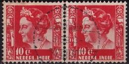 Ned. Indië: LOEBOEK-PAKAM (378) Op 1934-37 Koningin Wilhelmina 10 Ct Rood Paartje NVPH 195 - Indes Néerlandaises