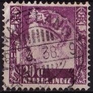 Ned. Indië: MAGELANG (393) Op 1934-37 Koningin Wilhelmina 20 Ct Roodviolet NVPH 198 - Indes Néerlandaises