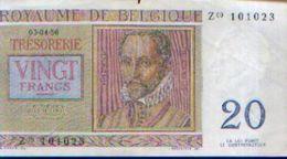 BELGIQUE  -  20 Francs 03-04-56 - Otros