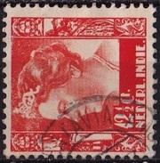 Ned. Indië: POSTAGENT AMSTERDAM-BATAVIA Op 1934-37 Koningin Wilhelmina 12½ Ct Lichtoranje NVPH 196 - Indes Néerlandaises