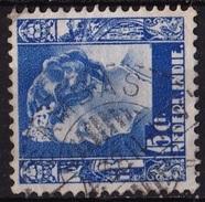 Ned. Indië: SAMBAS (648) Op 1934-37 Koningin Wilhelmina 15 Ct Ultramarijn NVPH 197 - Indes Néerlandaises