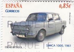 0,85 EUROS - SIMCA 1000 1961 - Petit Timbre Sympa - Discrètement Oblitéré - 1931-Aujourd'hui: II. République - ....Juan Carlos I