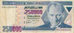 TURQUIE  – 250000 Lires 1970 - Turquie