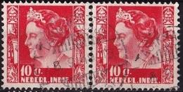 Ned. Indië: TASIKMALAJA (823) Op 1934-37 Koningin Wilhelmina 10 Ct Rood Paartje NVPH 195 - Indes Néerlandaises