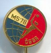 Handball, Balonmano - MS 1978. World Championships Czechoslovakia, Vintage Pin, Badge, Abzeichen - Handball