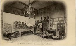 """77 THOMERY - Atelier De Rosa BONHEUR, Son Dernier Tableau """"La Foulaison"""" - Très Beau Visuel - Précurseur - France"""
