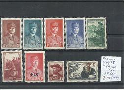 FRANCIA YVERT 470/75, 494/96  MNH  ** - 1941-42 Pétain