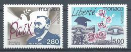 Monaco YT N°1987/1988 Europa 1995 Paix Et Liberté Neuf ** - Ungebraucht