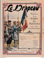 """Ww1 -1916 """"LE DRAPEAU"""" Organe De La LIGUE DES PATRIOTES Fondé Par Paul Déroulède - N° 3 - Documentos Históricos"""