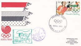 Nouvelle-Caledonie Flight Cover/FDC 1988 Seoul Depeche Speciale Olympique  (DD7-5) - Summer 1988: Seoul