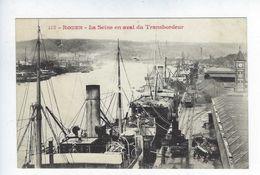 CPA Rouen La Seine En Aval Du Transbordeur N° 413 E.D. - Rouen