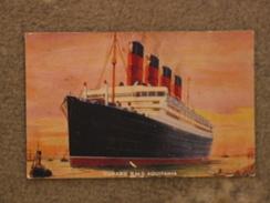 CUNARD LINE AQUITANIA - ART CARD - Dampfer