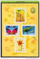Mwk001b FAUNA VOGEL VLINDER KIKKER SNAKE MUSHROOM ROSE FISH GIRAFFE FROG BUTTERFLIES DINOSAURUS BIRDS FRANCE 2000 PF/MNH - Briefmarken