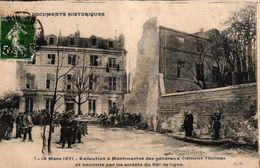CPA DOCUMENTS HISTORIQUES - 7-18 MARS 1871 EXECUTION A MONTMARTRE DES GENERAUX CLEMENT THOMAS - Storia