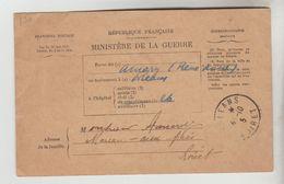 CPA MILITAIRE GUERRE 1914/18 CPFM - Bulletin De Santé D'un Militaire En Traitement - Postmark Collection (Covers)