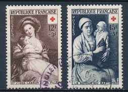 France - Croix-Rouge 1953 YT 966-967 Obl. - Oblitérés