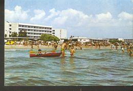 K2. Romania MAMAIA Black Sea Resort Hotel Beach People Turist Children Boat Posted Postcard - Romania