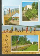 K2. Romania AMARA Resort Hotel Sanatorium Beach People Turist Children Posted Postcard - Roemenië
