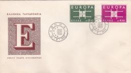 Greece 1963 FDC Europa CEPT (DD7-6) - Europa-CEPT