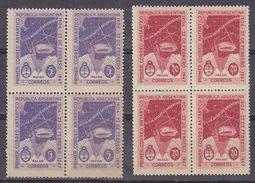 Argentina 1947 Antarctica 2v Bl Of 4 ** Mnh (36872) - Ongebruikt