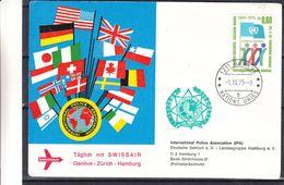 Nations Unies - Carte Postale 1975 - Oblit Genève - Drapeaux - Ginevra - Ufficio Delle Nazioni Unite