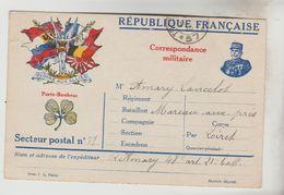 CPA MILITAIRE GUERRE 1914/18 CPFM - Modèle Joffre Et Trèfle à 4 Feuilles Porte Bonheur - Marcophilie (Lettres)