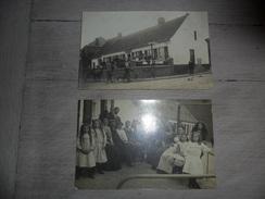 "Tieghem  Tiegem  2 Fotokaarten  Fotokaart  Cartes Photo  "" In Arnoldus "" - Anzegem"