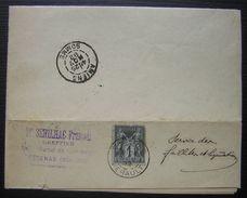 1892 Pezenas (Hérault) 1 Centime Seul Sur Lettre De Maître Sérilhac François Greffier, Pour Amiens - Marcophilie (Lettres)