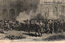 CPA DOCUMENTS HISTORIQUES - MAI 1871 - EXECUTION EN MASSE A LA CASERNE LOBAU - Histoire