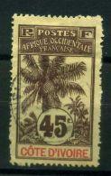 COTE-D'IVOIRE  ( POSTE  ) : Y&T  N°  30  TIMBRE   TRES   BIEN  OBLITERE, A VOIR . - Elfenbeinküste (1892-1944)