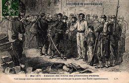 CPA DOCUMENTS HISTORIQUES - 2 MAI 1871 - EXAMEN DES MAINS DES PRISONNIERS FEDERES - Histoire