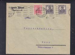 Dt. Reich Brief 1921 Frankfurt Am Main Ignatz Berger Lochungen - Deutschland