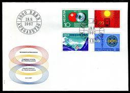 01101b) Schweiz - Michel 858 / 861 - FDC - Jahresereignisse 67 / II - FDC