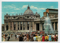 CITTA'  DEL  VATICANO   PIAZZA  E  BASILICA  DI  S. PIETRO       (VIAGGIATA) - Vatican