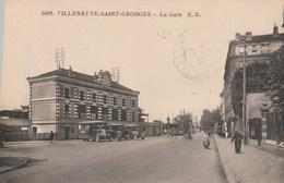 CPA 94 VILLENEUVE SAINT GEORGES LA GARE AUTOBUS RENAULT - Villeneuve Saint Georges