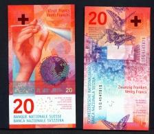 SWITZERLAND  -  2015  20 Francs  Studer And Danthine Signatures  UNC - Switzerland
