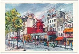 Le Moulin Rouge - Peinture De Pedro Vargas - Editions Krisarts - Autres Monuments, édifices