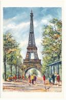 La Tour Eiffel - Peinture De Pedro Vargas - Editions Krisarts - Tour Eiffel