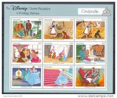 MueD141b WALT DISNEY ASSEPOESTER CINDERELLA PAARD KAT HOND MUIZEN HORSE CAT DOG MICE KATZE HUNDE GRENADA 1987 PF/MNH - Disney