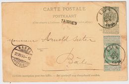 "Cachet Ambulant "" EST -4 "", 1894   , #8722 - Balkenstempel: Bahnpoststempel"