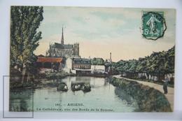 Old Real Photo Postcard France - Amiens - La Cathedrale, Vue Des Bords De La Somme - Posted - Amiens