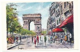 Arc De Triomphe - Peinture De Pedro Vargas - Editions Krisarts - Triumphbogen