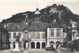 CPSM Format CPA. SALINS-LES-BAINS . HOTEL DE VILLE.FORT BELIN. AFFR LE 11-9-1955 . 2 SCANES - France