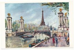 La Tour Eiffel - Peinture De Pedro Vargas - Editions Krisarts - Eiffelturm