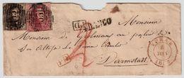 1852, 10 Et 40 C. Lettre Pour Allemagne  , #8726 - 1851-1857 Medallions (6/8)