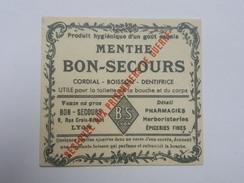 Menthe Bon Secours - Réservée Aux Prisonniers De Guerre - Cordial - Boisson - Dentifrice, Rue Croix Mathon à Lyon - Documents