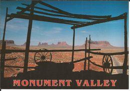 USA Utah, Monument Valley (National Park, Postcard) - Maison Ancienne En Ruines, Roues De Chariot - Monument Valley