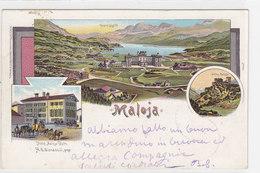 Maloja - Litho Mit Postkutsche & Hotel Kulm - 1899      (P-86-10317) - GR Grisons
