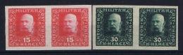 Österreichisch- Bosnien Und Herzegowina Mi. 104 A P UI + 107 A PU I Paare Postfrisch/neuf Sans Charniere /MNH/** - 1850-1918 Imperium